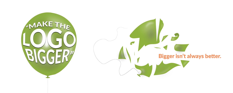 CATMEDIA Logo Design Bigger logo isn't always better