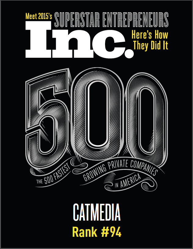 Page 1 of 1 of Inc 500's digital print for CATMEDIA.