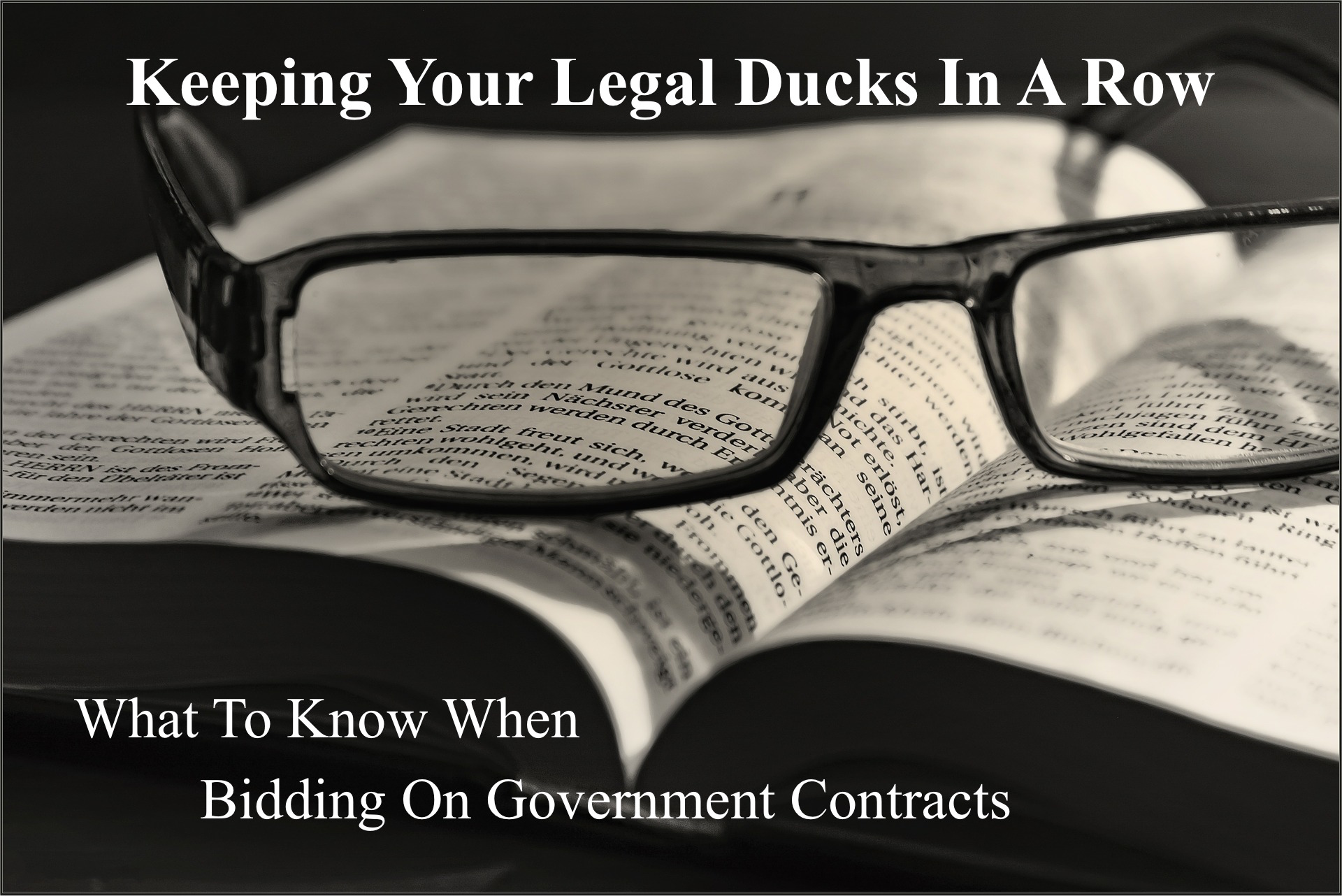 CATMEDIA Government Contracts Legal Ducks in a Row