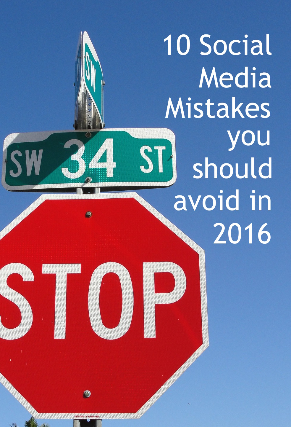 MISTAKES ON SOCIAL stop sign CATMEIDA