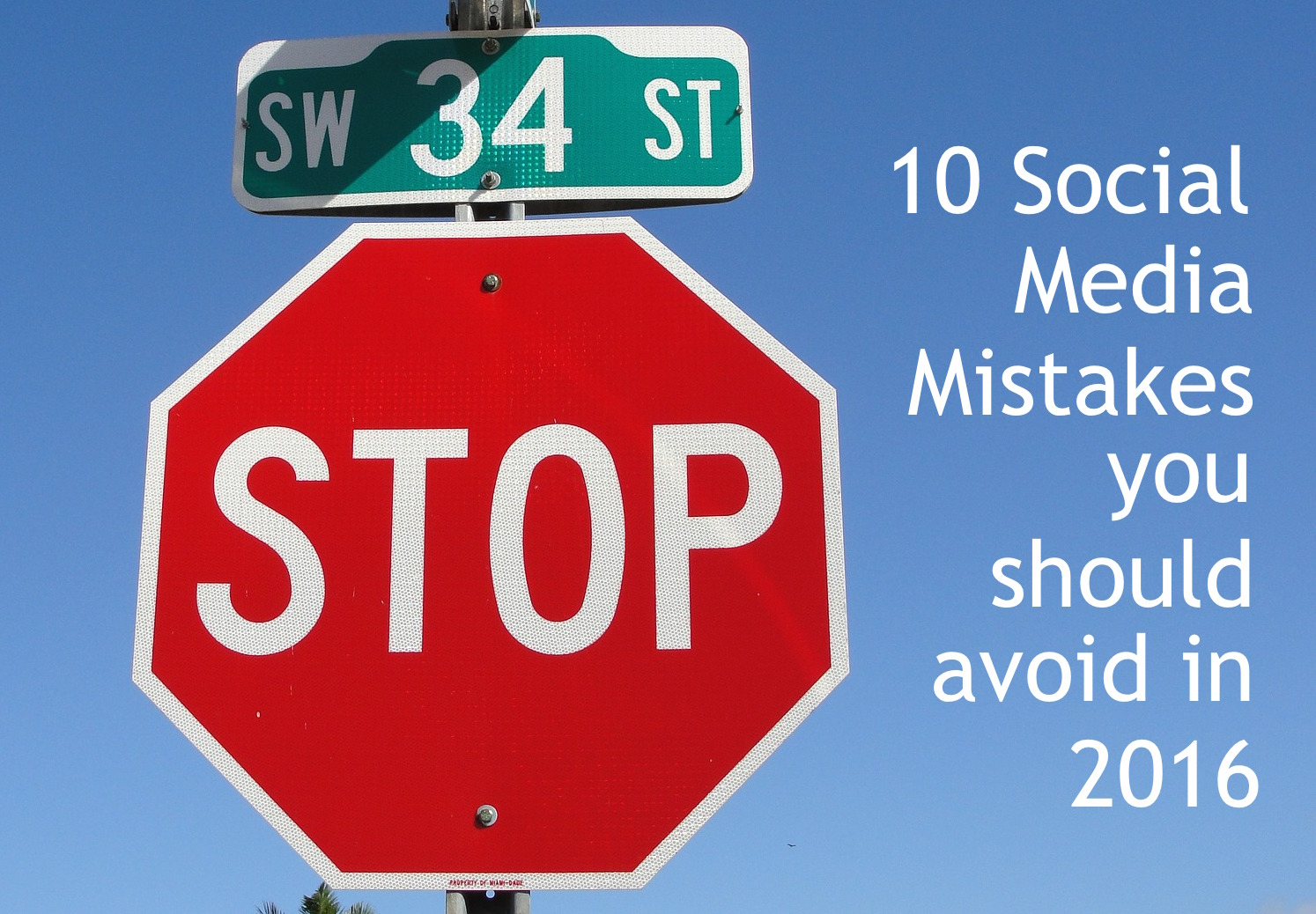 MISTAKES ON SOCIAL stop signs CATMEDIA